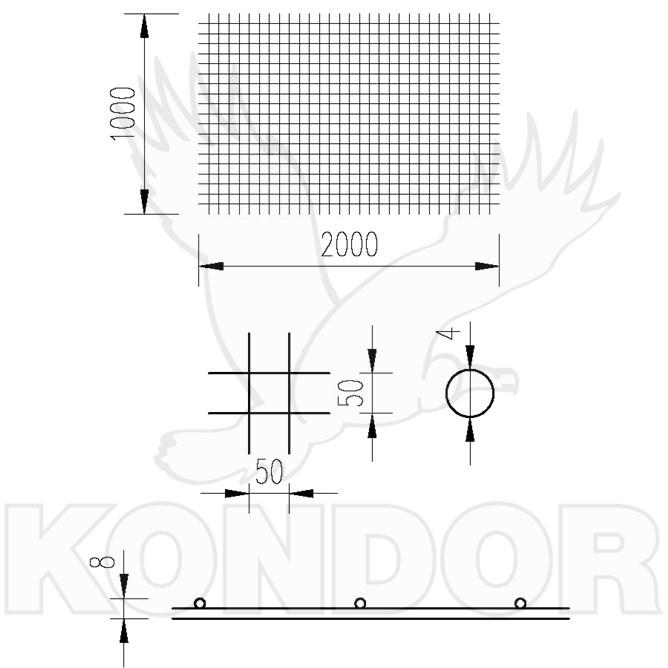 Kari sítě 50×50