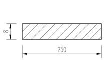 ocel plochá 250x8