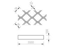 pletivo PVC 100/25m/50x50/2,5 + nezapletený napínací drát