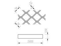 pletivo PVC 125/25m/50x50/2,5 + nezapletený napínací drát