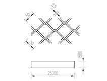 pletivo PVC 150/25m/50x50/2,5 + nezapletený napínací drát