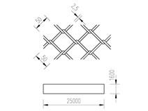 pletivo PVC 160/25m/50x50/2,5 + nezapletený napínací drát