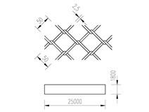 pletivo PVC 180/25m/50x50/2,5 + nezapletený napínací drát