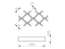 pletivo PVC 200/25m/50x50/2,5 + nezapletený napínací drát
