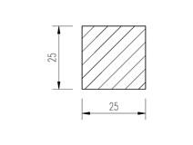 ocel čtvercová 25mm