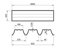 TR 92/275 (síla 0,88mm) ALUZINK