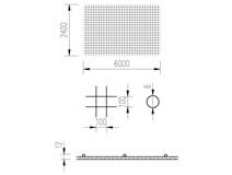 síť KARI 6/10/2,4x6m (AQ60=6N1010)