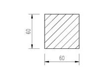 ocel čtvercová 60mm