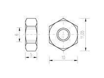 DIN 934 A2 M 6 matice přesná nerez