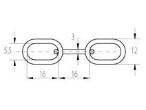 Řetěz A  3  polodlouhý článek Zn