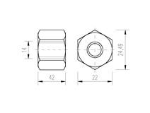 DIN 6334 Zn M14x42 matice prodloužená