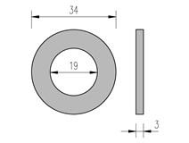 DIN 125 19 podložka plochá