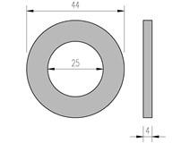 DIN 125 25 podložka plochá