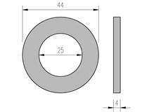 DIN 125 Zn 25 podložka plochá
