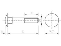 DIN 603 Zn M 6x 30 šroub vratový