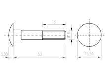 DIN 603 Zn M 6x 50 šroub vratový