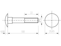 DIN 603 Zn M 8x100 šroub vratový