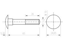 DIN 603 Zn M10x 60 šroub vratový