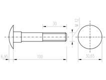 DIN 603 Zn M12x100 šroub vratový