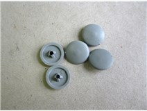 krytka vrutu PZ2 šedá (3,5/4,0/4,5) blistr  - DOPRODEJ