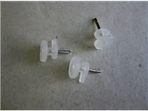 háček do panelu 1 plast bílý blistr - DOPRODEJ