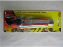 Nůž odlamovací 18mm kov vodítko aretace kolečko 76182