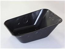 korba na kolečko 80L tažená černá