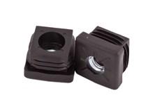zátka čtvercová  30x30 /1-2 M10 kov závit