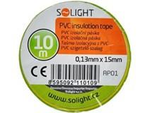 páska izolační 10m žlutozelená
