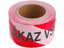 páska výstražná červenobílá  75mm/250m VSTUP ZAKÁZÁN