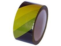 páska výstražná žlutočerná  48mm/ 66m lepící