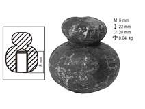 Matice kovářská kruhová Zn 20x22mm M 6