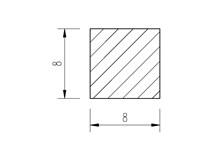 Ocel čtvercová 8mm tažená