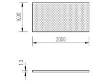 plech děrovaný pozinkovaný 1/1x2m kruh 5-8